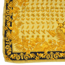 Load image into Gallery viewer, Vintage Atelier Versace Barocco Silk Scarf - Gold & Black