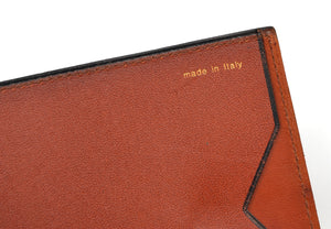 Valextra Milano Wallet/Billfold with Clip and Snap Closure - Tan
