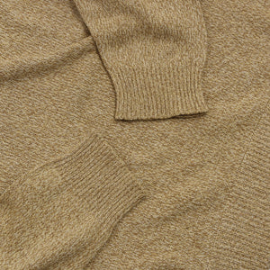Ermenegildo Zegna 100% Silk Sweater Size XL - Gold Flecked