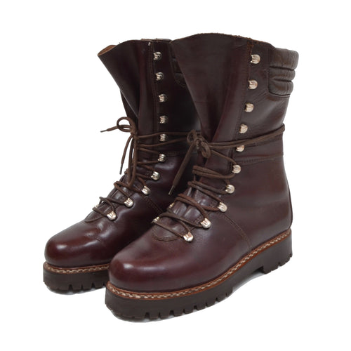 Eiger Leather Mountaineering Boots Size 39.5 - Burgundy