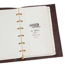 Load image into Gallery viewer, Hetzel Vintage Leather Notebook/Address Book - Brown