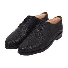 Load image into Gallery viewer, Ludwig Reiter Woven Leather Derby Shoes Size 9.5 - Black & Navy