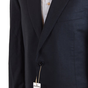 Canali 1934 Wool Suit Size 56  - Blue Nailhead