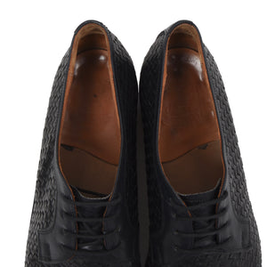 Ludwig Reiter Woven Leather Derby Shoes Size 9.5 - Black & Navy
