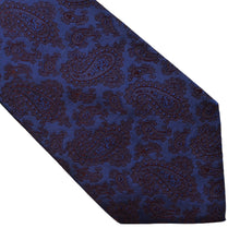 Load image into Gallery viewer, Kiton Napoli 7 Fold Tie - Navy Paisley