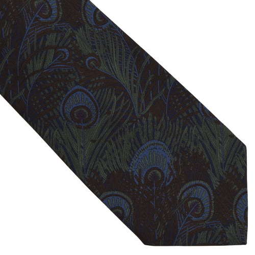 Liberty of London Ancient Madder Silk Tie - Peacock Feather Print