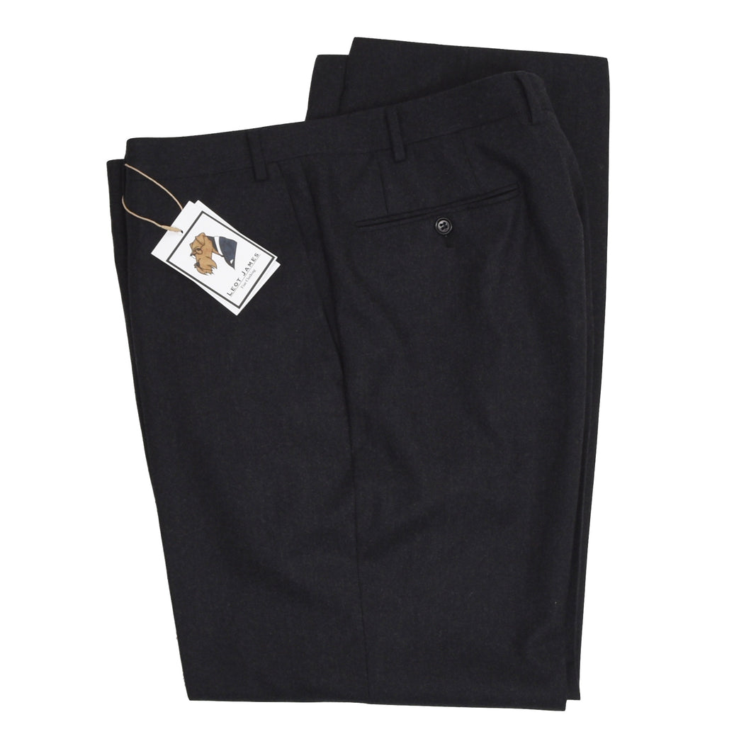 Canali 1934 Wool Flannel Pants - Charcoal