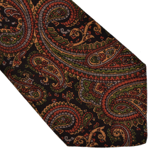 Load image into Gallery viewer, Knize Wien Wool Challis Tie - Braun Paisley
