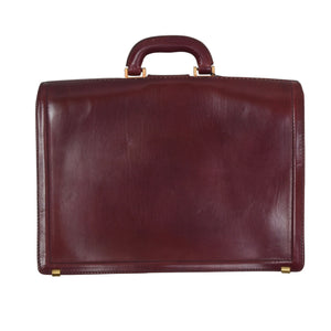 Classic Leather Briefcase - Burgundy