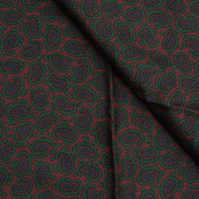 Load image into Gallery viewer, Anonymous Silk Dress Scarf - Burgundy Paisley