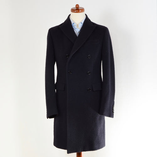 Z Zegna Double Breasted Overcoat Size 46 - Navy