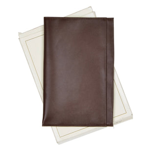 Becker Handmade Leather Passport Case/Wallet - Brown