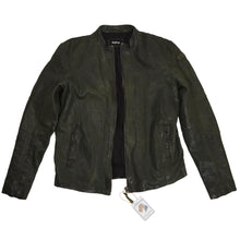 Load image into Gallery viewer, Tigha Sheep Leather Cafe Racer Jacket - Green