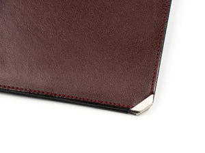 Valextra Milano Breast Wallet with Notepad - Burgundy/Brown