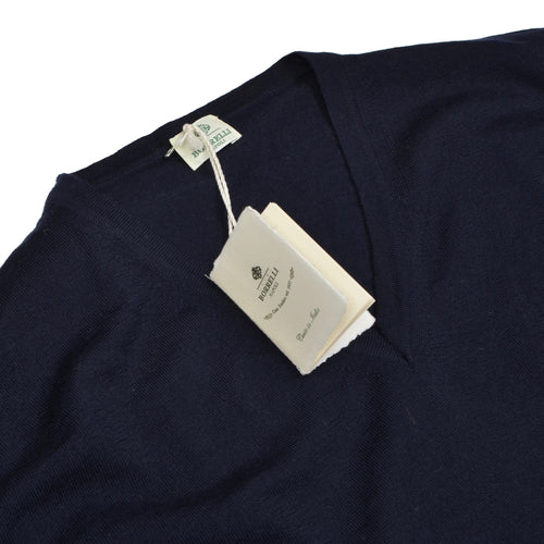 Luigi Borrelli Napoli Wool Sweater Size 56 - Navy