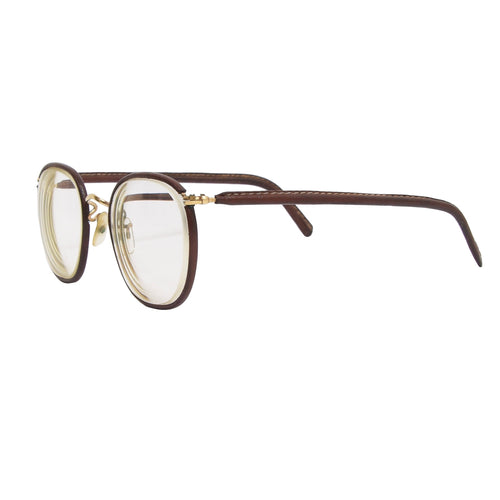 Algha Savile Row Leather Wrapped Gold Frames