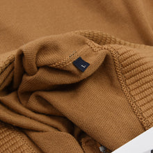 Load image into Gallery viewer, Ermenegildo Zegna 1/4 Zip Wool Sweater Size L - Caramel Brown