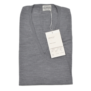 Knize Wien V-Neck Wool Sweater Vest 46 XL - Heather Grey
