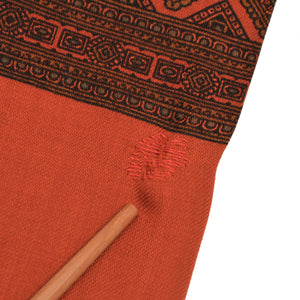 Wool Challis Dress Scarf - Orange