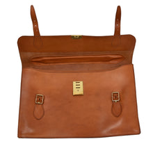Load image into Gallery viewer, Rustic Leather Briefcase - Saddle Tan