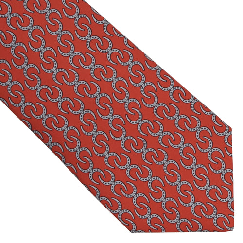 Hermès Paris Silk Tie 5404OA - Horseshoes