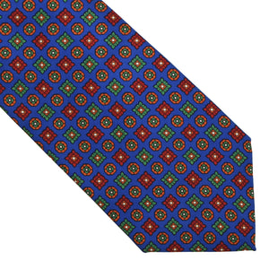 Andrew's Ties Neat Silk Tie - Royal Blue