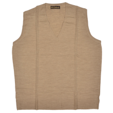 Load image into Gallery viewer, Coxmoore of England Sweater Vest Size XL  - Natural Tan