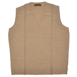 Coxmoore of England Sweater Vest Size XL  - Natural Tan