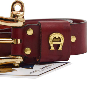 Etienne Aigner Leather Belt Size 90/36 - Red