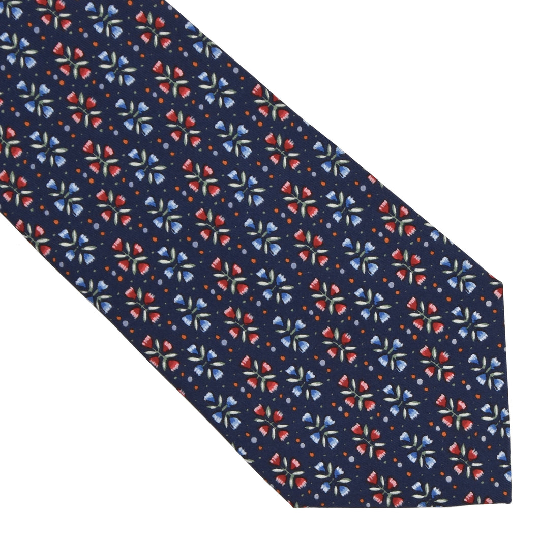 Hermès Paris Silk Tie 7798FA - Tulips