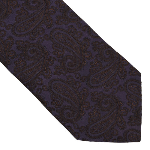 Kleidermanufaktur Habsburg Jacquard Silk Tie - Purple