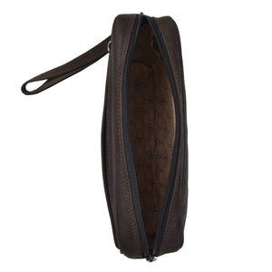 Jean Weipert Traveller Buffalo Leather Pouch - Brown