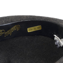 Load image into Gallery viewer, Borsalino Unlined Fur Felt Hat Size 61 - Grey