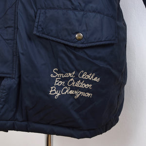 Vintage Chevignon Togs Unlimited Down Puffer Jacket Size L - Navy