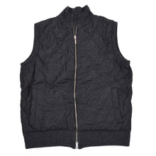 Load image into Gallery viewer, Reversible Wool Quilted Zip Vest - Grey/Black