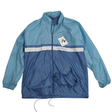 Load image into Gallery viewer, Vintage '80s Adidas Packable Nylon Rain Jacket Size 50/40 - Sky Blue