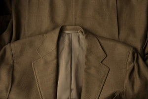 Façonnable x Cantarelli Cashmere Silk Jacket Size 52 - Golden Green/Brown