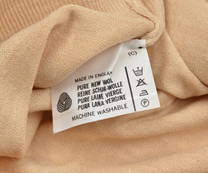 Coxmoore of England V-Neck Wool Sweater XL - Natural Tan