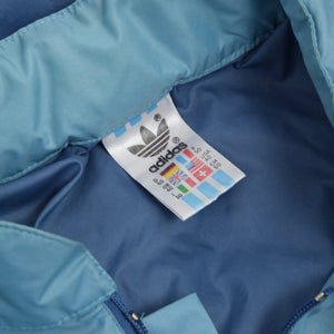 Vintage '80s Adidas Packable Nylon Rain Jacket Size 50/40 - Sky Blue