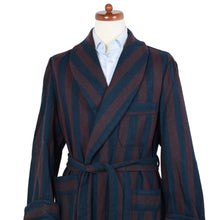 Load image into Gallery viewer, Vintage Unlined Robe - Burgundy & Navy Stripe
