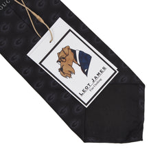Load image into Gallery viewer, Gucci Monogram Tie - Black/Charcoal