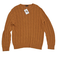 Load image into Gallery viewer, Suitsupply Linen/Silk Cableknit Sweater Size XXL - Ochre
