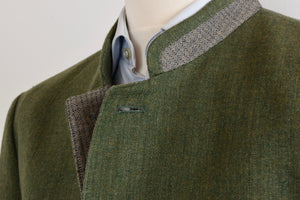 Seidl Traditional 1/4 Lined Linen/Wool Janker/Jacket Size 54 - Green