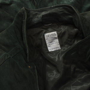 Seraphin Leather Coat Size 56 - Forrest Green