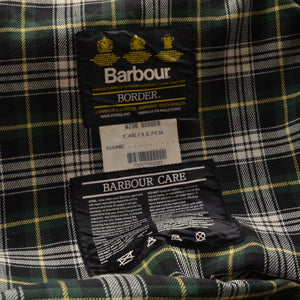 Barbour Border Waxed Jacket Size C46/117cm - Green