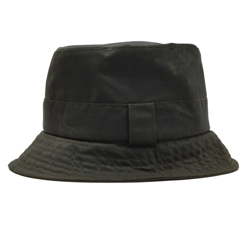 Barbour A115 Waxed Bucket Hat Size M - Sage Green