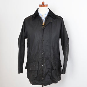 Barbour Beaufort Waxed Jacket Size C38/97cm - Black