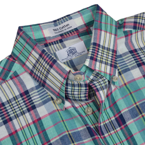 J. Press Indian Madras Shirt Size M - Plaid