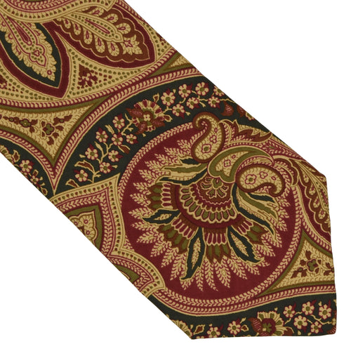 Prokop Paisley Silk Tie - Butter Yellow & Green