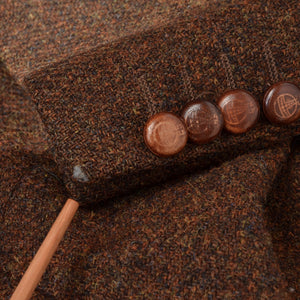 Barutti Harris Tweed Jacket Size 52 - Rust